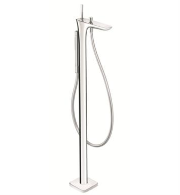 "Hansgrohe 15473401 PuraVida 40 1/8"" Single Handle Free Standing Tub Filler Trim with Handshower With Finish: White/Chrome"