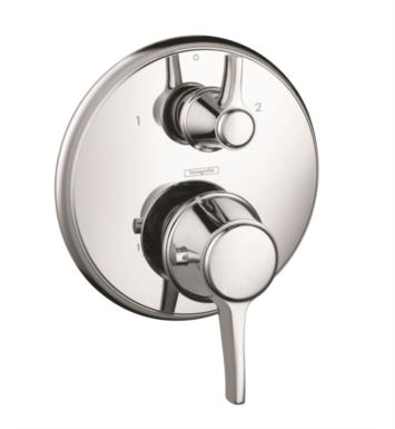 "Hansgrohe 15752831 Ecostat C 6 3/4"" Thermostatic Trim with Volume Control With Finish: Polished Nickel"