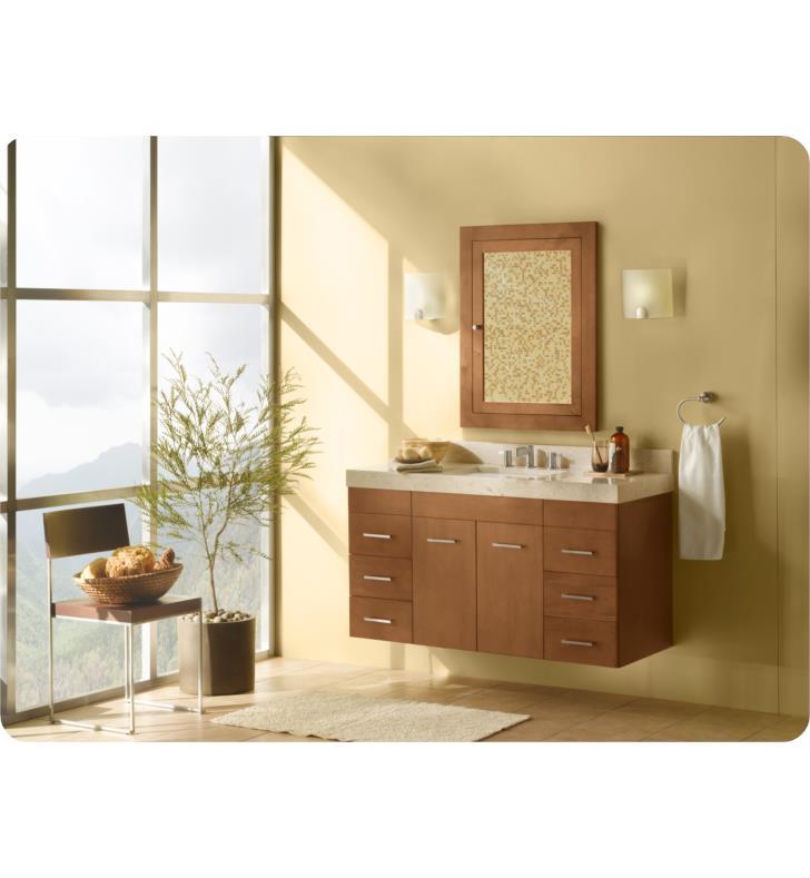 Ronbow 011223 632112x2 F08 Bella 48 Quot Wall Mount Bathroom Vanity Set In Cinnamon