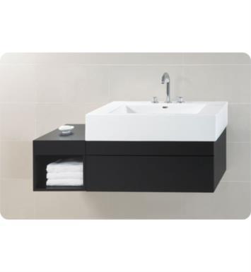 ronbow 010136 3 648015 b02 rebecca 51 wall mount bathroom vanity set in black left or right. Black Bedroom Furniture Sets. Home Design Ideas