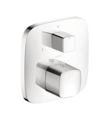 Hansgrohe 15771401 PuraVida Thermostatic Trim with Volume Control and Diverter With Finish: White/Chrome