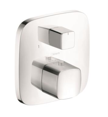 "Hansgrohe 15771 PuraVida 6 1/8"" Thermostatic Trim with Volume Control and Diverter"