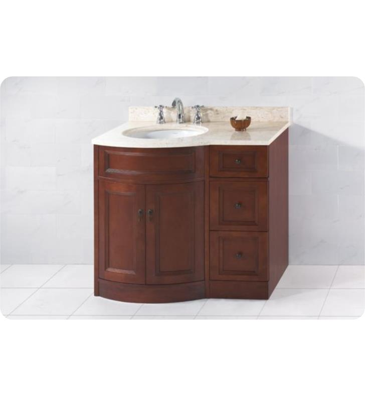 Ronbow 060624 621212l F13 Marcello 36 Bathroom Vanity Set In Caf Walnut W Left Side Sink