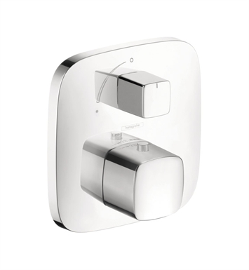 Hansgrohe 15775401 PuraVida Thermostatic Trim with Volume Control With Finish: White/Chrome