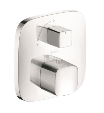 "Hansgrohe 15775001 PuraVida 6 1/8"" Thermostatic Trim with Temperature and Volume Control With Finish: Chrome"
