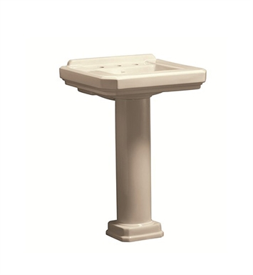 ... Cirtangular? 24 inch Pedestal Lavatory in Biscuit