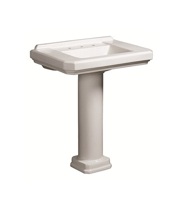 Danze DC026028WH-DC028110WH Cirtangular® 30 inch Pedestal Lavatory in White