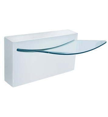 LaToscana Crystall Wall Mount Sink with Integrated Glass Basin