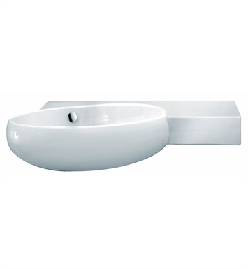 LaToscana TA30SXL Tao Wall Mount Sink with Integrated Basin on Left