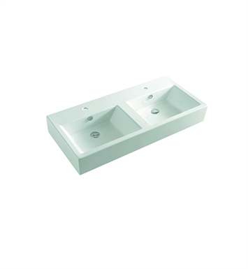 LaToscana Fuori Box Above Counter Sink with Two Integrated Basins