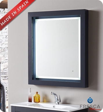 "Fresca Platinum FPMR7534CB Due 32"" Bathroom Mirror with LED Lighting and Fog Free System in Cobalt Gloss"
