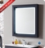 "Fresca Platinum Due 32"" Bathroom Mirror with LED Lighting and Fog Free System in Cobalt Gloss"