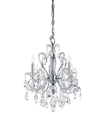 Kichler 1002CH Mini Chandelier 4 Light in Chrome