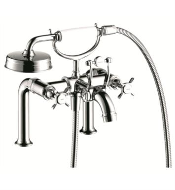 "Hansgrohe 16542821 Axor Montreux 11"" Double Handle Deck Mounted Tub Filler with Handshower With Finish: Brushed Nickel"