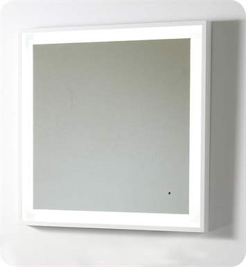 "Fresca Platinum  FPMR7564WH Wave 32"" Bathroom Mirror with LED Lighting and Fog Free System in White Gloss"