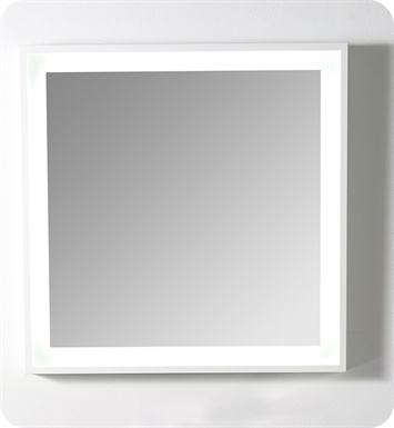 "Fresca Platinum Napoli 32"" Bathroom Mirror with LED Lighting and Fog Free System in White Gloss"
