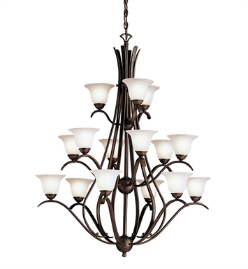 Kichler 2523TZ Dover Collection Chandelier 15 Light in Tannery Bronze