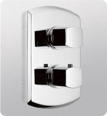 TOTO TS960D#PN Soirée® Thermostatic Mixing Valve Trim with Dual Volume Control With Finish: Polished Nickel