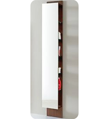 LaToscana 7004-W Asia 85 Collection Wenge Tall Wall Mount Linen Tower