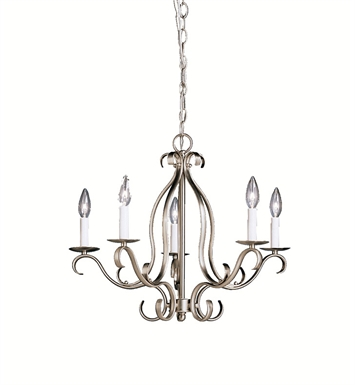 Kichler 2033NI Portsmouth Collection Chandelier 5 Light in Brushed Nickel