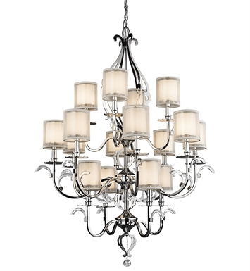 Kichler 42392CH Chandelier 16 Light in Chrome