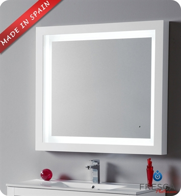 "Fresca Platinum FPMR7536WH Due 39"" Bathroom Mirror with LED Lighting and Fog Free System in White Gloss"