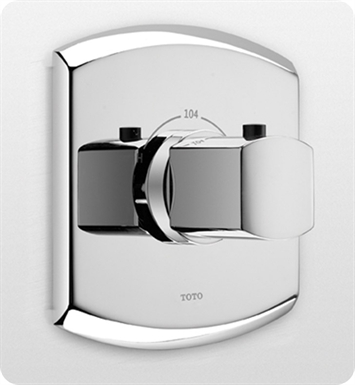 TOTO TS960T#PN Soiree® Thermostatic Mixing Valve (Trim only) With Finish: Polished Nickel