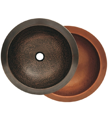 Whitehaus WHCOLV17-HB Round Drop-in / Undermount Basin with Hammered Texture