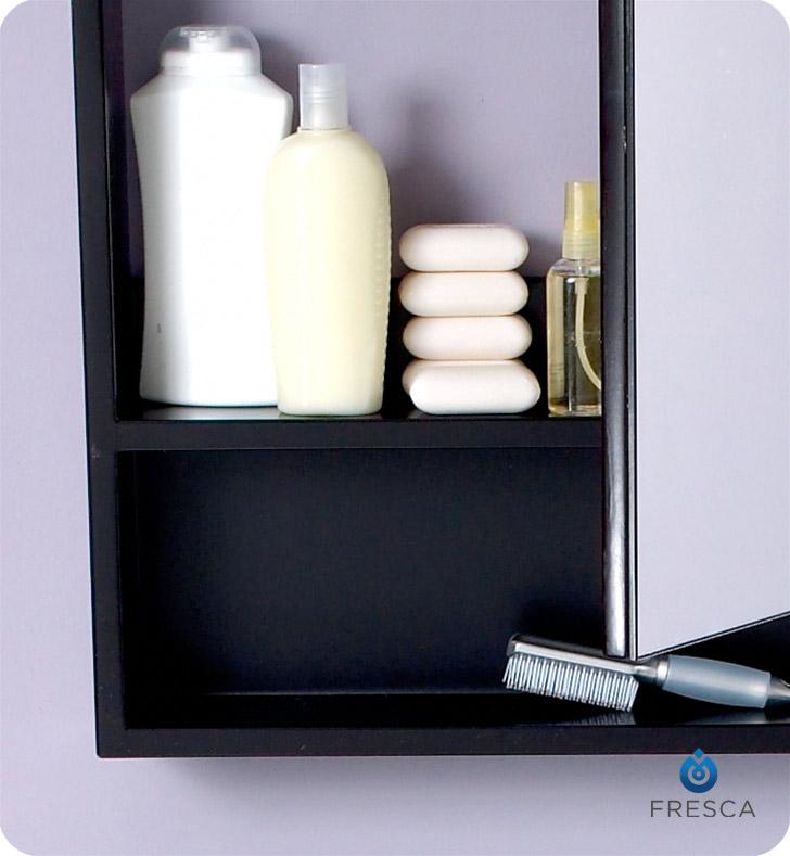 fresca fmc3301es l large espresso bathroom medicine cabinet with small