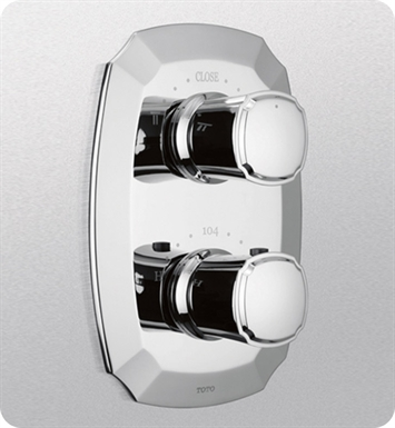 TOTO TS970D#PN Guinevere® Thermostatic Mixing Valve with Two-Way Volume Control Trim With Finish: Polished Nickel