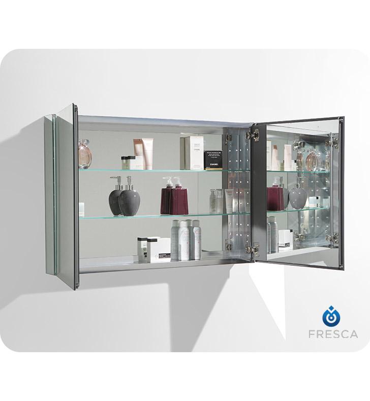 Fresca Fmc8010 40 Wide Bathroom Medicine Cabinet With Mirrors