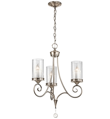 Kichler 42860SWZ Lara Collection Chandelier 3 Light With Finish: Shadow Bronze