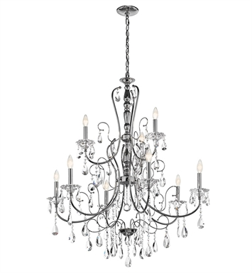 Kichler 43123CH Jules Collection Chandelier 9 Light in Chrome