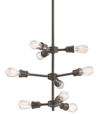 Kichler 42257OZ Chandelier 9 Light in Olde Bronze