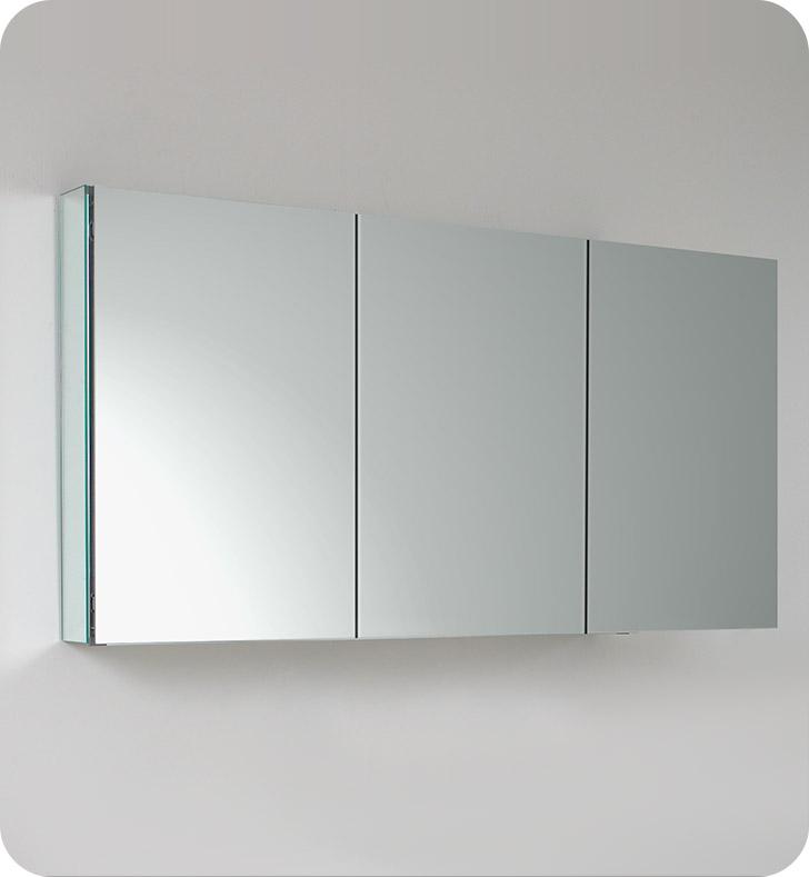 Fresca fmc8019 60 wide bathroom medicine cabinet with mirrors for Fresca 60 wide bathroom medicine cabinet w mirrors