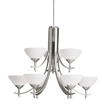 Kichler 1680AP Olympia Collection Chandelier 9 Light in Antique Pewter