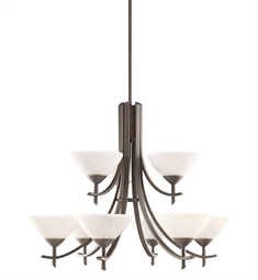 Kichler Olympia Collection Chandelier 9 Light in Olde Bronze