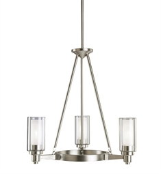 Kichler Circolo Collection Chandelier 3 Light in Brushed Nickel