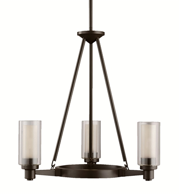 Kichler 2343OZ Circolo Collection Chandelier 3 Light in Olde Bronze