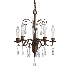 Kichler Barcelona Collection Mini Chandelier 5 Light in Tannery Bronze