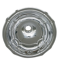Whitehaus Round Fluted Design Drop-in Basin with Overflow and Polished Stainless Steel Finish