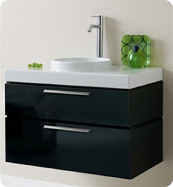 LaToscana 7063-162 Asia 85 Collection Black Modern Bathroom Vanity