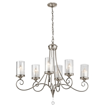 Kichler 42862CLP Lara Collection Chandelier 6 Light With Finish: Classic Pewter