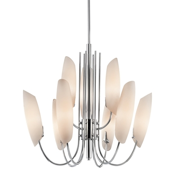 Kichler 42213CH Stella Collection Chandelier 9 Light in Chrome