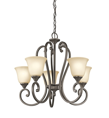 Kichler 43175OZ Feville Collection Chandelier 5 Light in Olde Bronze
