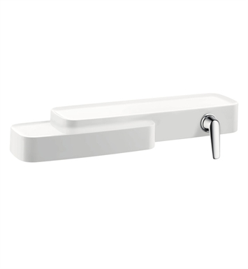 Hansgrohe 19132401 Axor Bouroullec Shelf with Integrated Single Handle Faucet in White Chrome