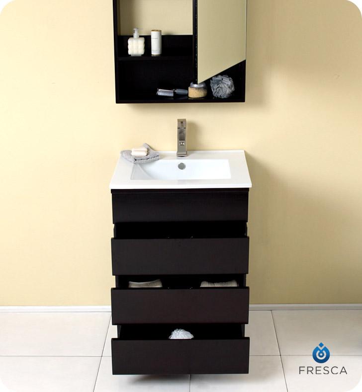 amato 24 espresso modern bathroom vanity with medicine cabinet
