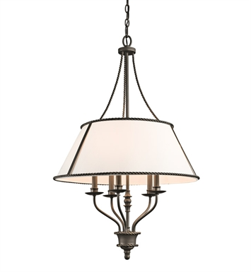 Kichler 43340OZ Donington Collection Chandelier 5 Light in Olde Bronze