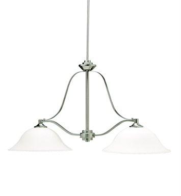 Kichler 3882NI Langford Collection Chandelier Island 2 Light in Brushed Nickel