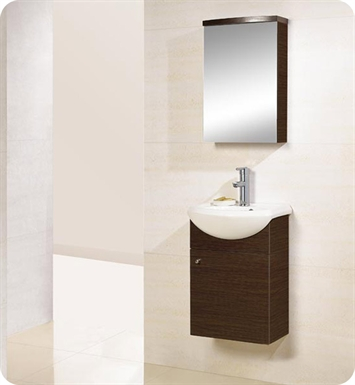 "DreamLine DLVRB-101 17"" Wall-Mounted Modern Bathroom Vanity - w/Counter and Medicine Cabinet"